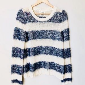 Anthropologie Tabitha Striped Pullover Sweater